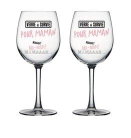 Chantal Lacroix Duo verre à vin - Maman