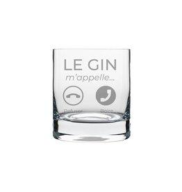 La maison du bar Verre à gin - Le gin m'appelle