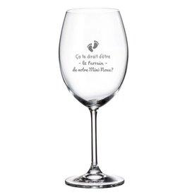 La maison du bar Verre à vin - Ça te dirait d'être le parrain ?