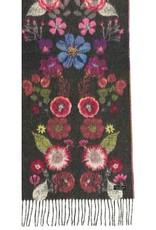 Fraas Foulard cashmink Fleurs pressées  - Charcoal
