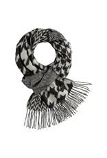 Fraas Foulard cashmink - Pied de poule noir