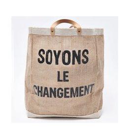 Chantal Lacroix Sac d'emplettes - Soyons le changement