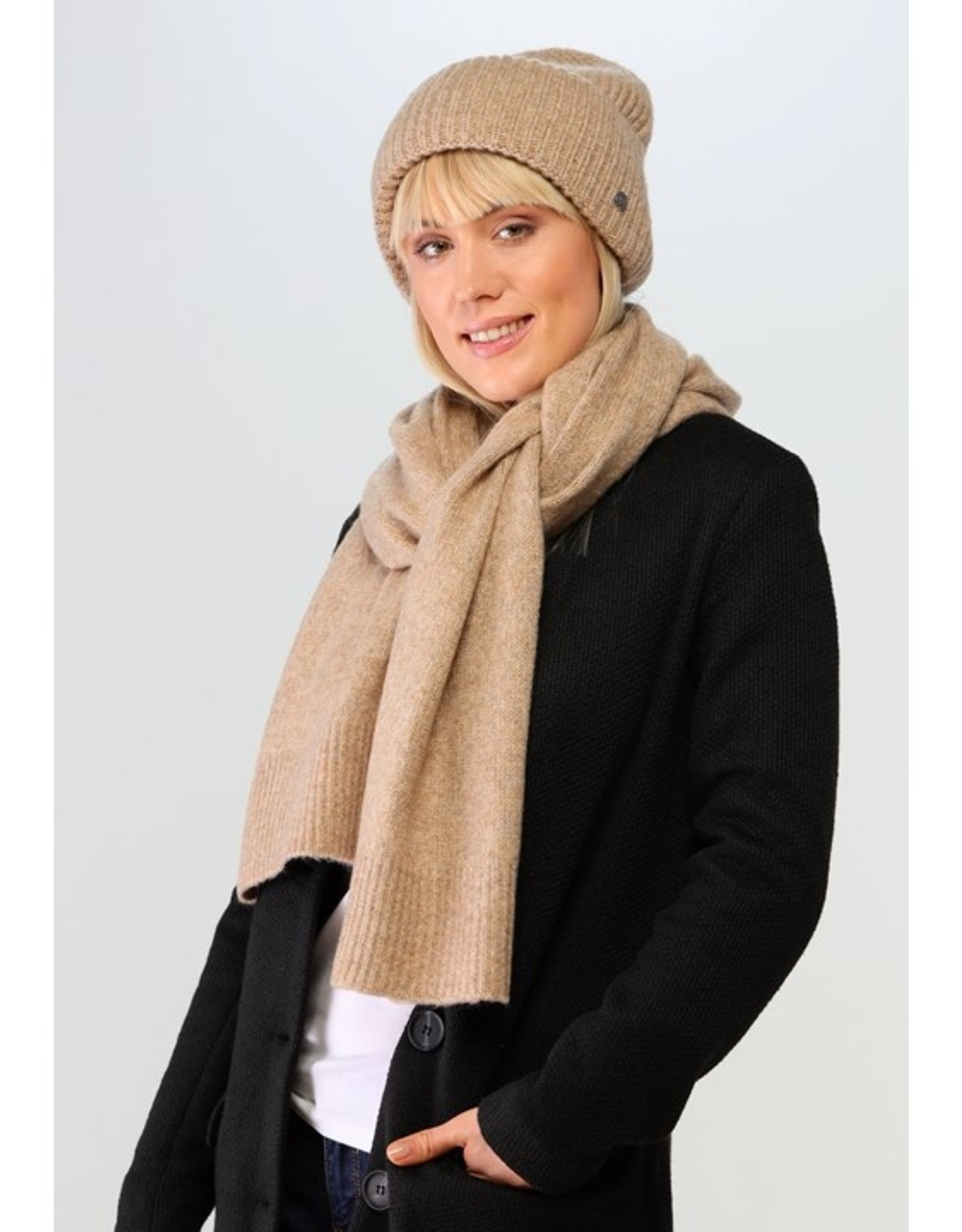 Fraas Tuque tricot - Camel
