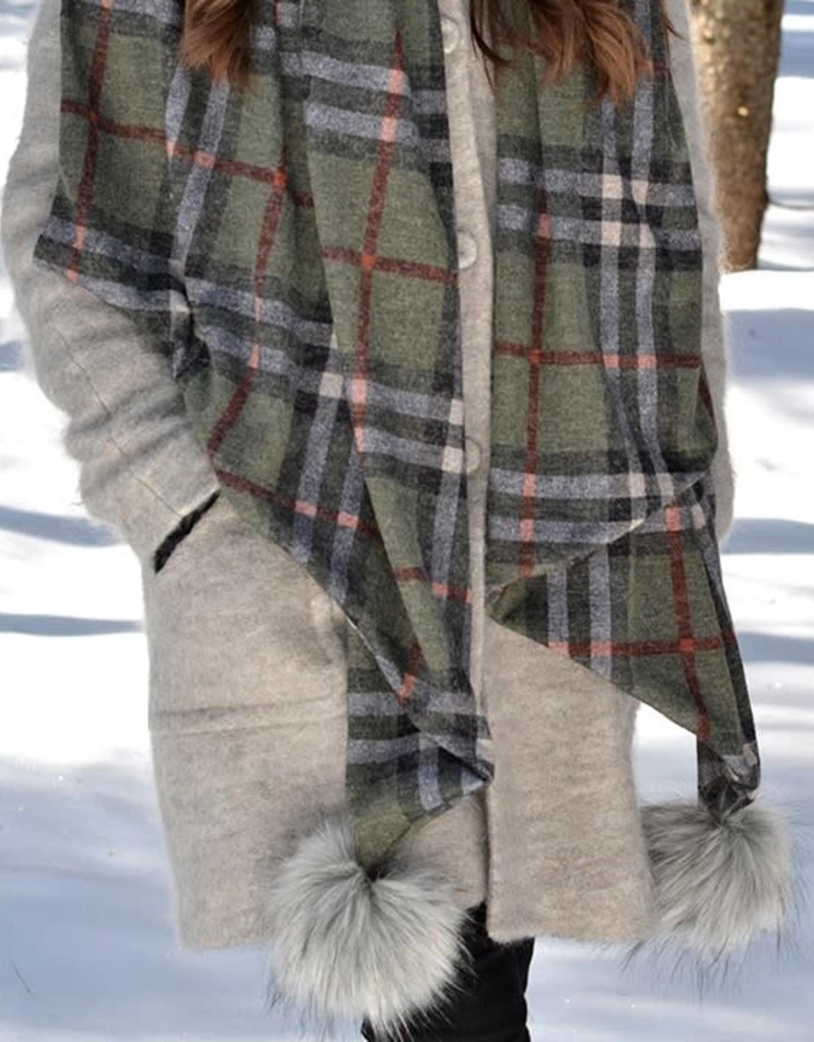 Baluchon Grand foulard + pompon # 1610-1331