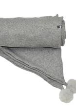 Baluchon Foulard + mini pompon gris # 1871-1466