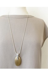 Caracol Long collier + ovale or #1465