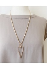 Caracol Long collier coeur Rosegold  # 1322