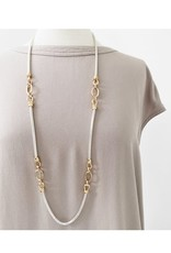Caracol Long collier argent & or #1443