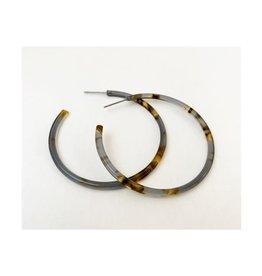 Caracol Bo anneau grise -  #2437