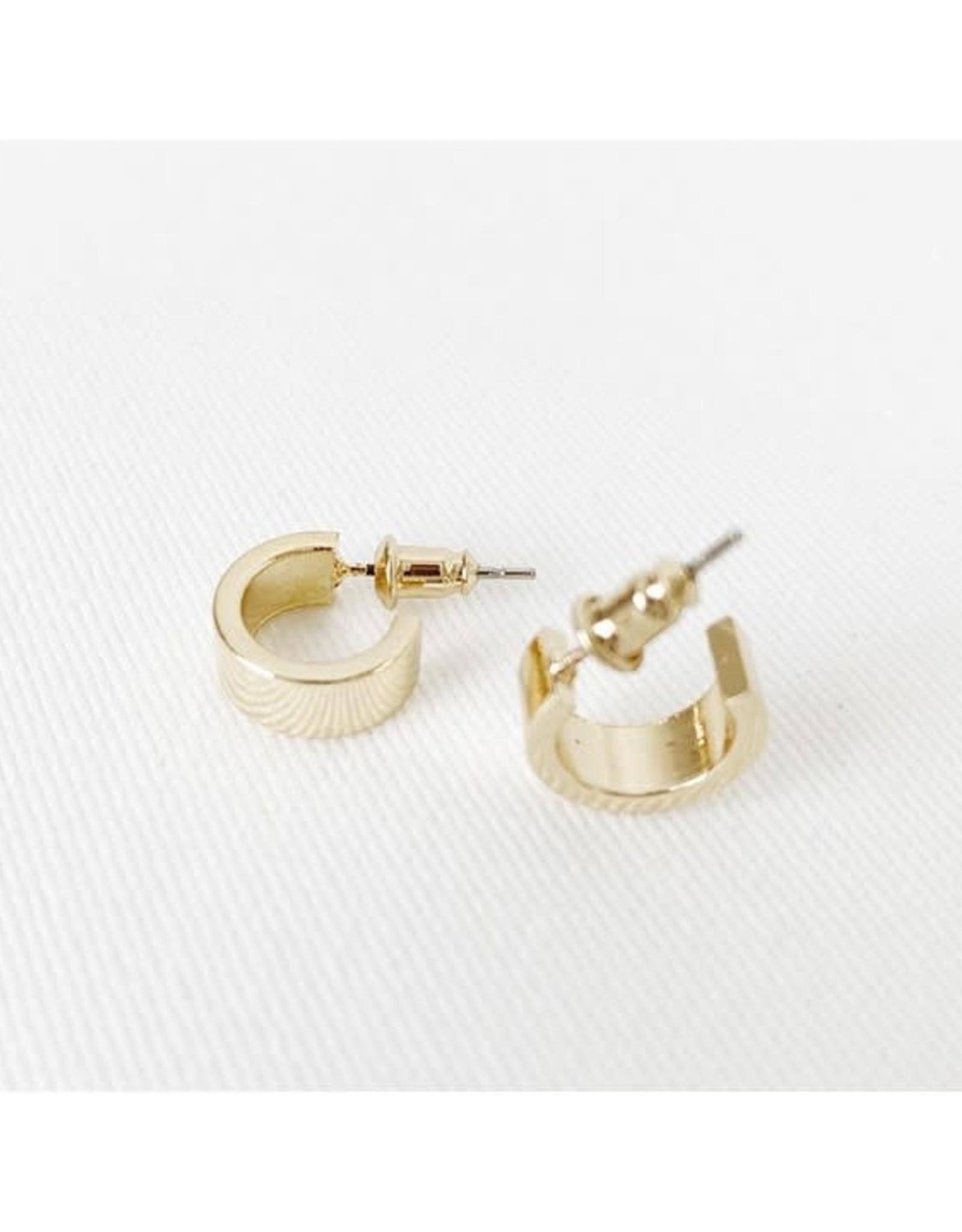 Caracol Minis anneaux  - Or brillant  # 2319