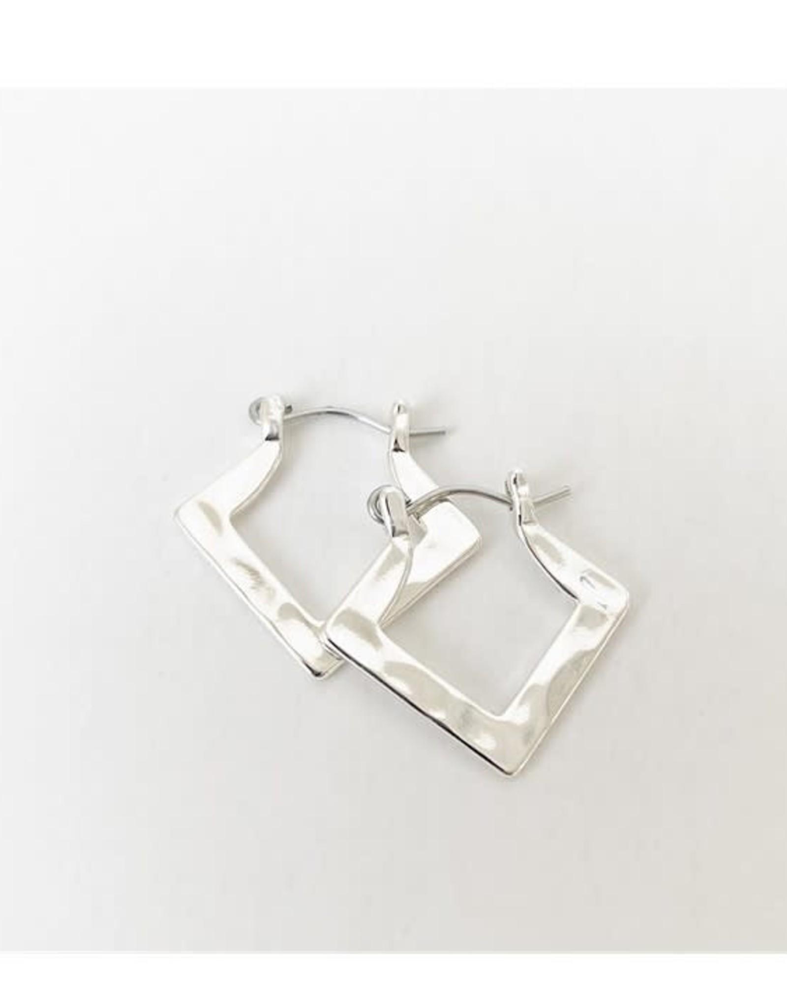 Caracol Bo anneaux carrés - Argent  #2465