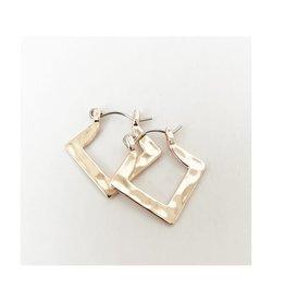 Caracol Bo anneaux carrés - Rosegold   #2465