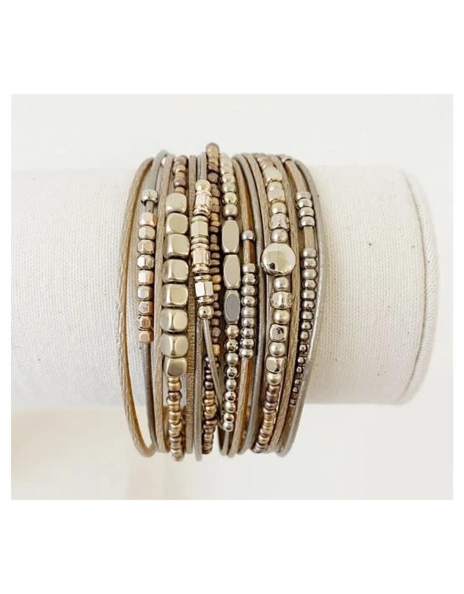 Caracol Bracelet multi rangs - Café  #3161