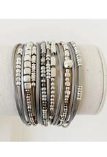 Caracol Bracelet multi rangs - gris  #3161