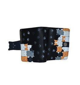 Petit portefeuille chats - Noir