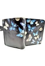 Petit portefeuille papillon noir & bleu