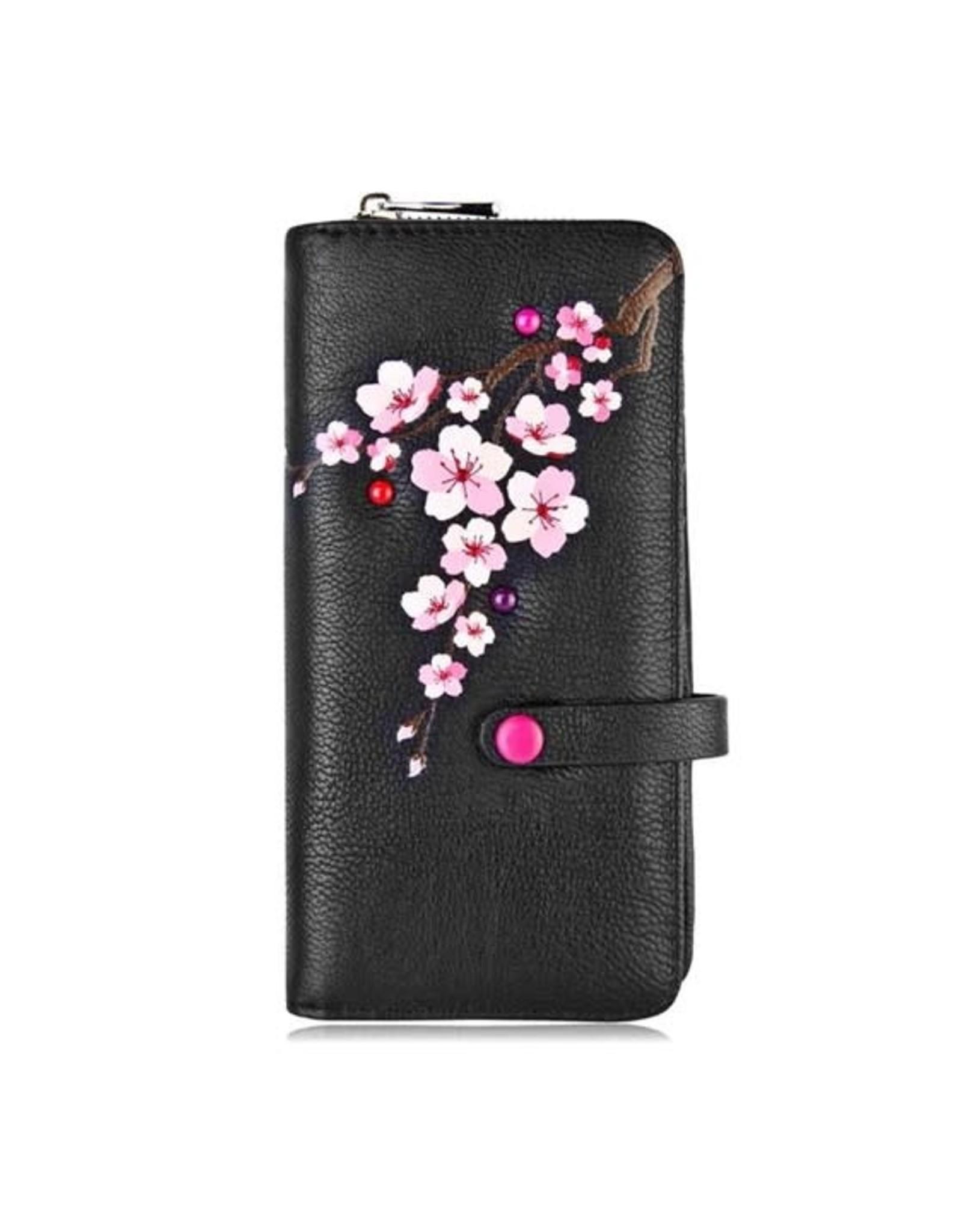 ESPE Portefeuille clutch Blossom - Noir