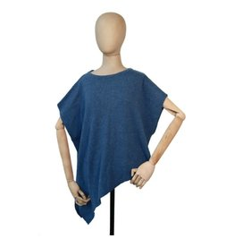Fraas Poncho cashmire - Bleu