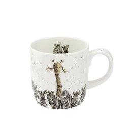 wrendale Grande tasse girafe + zèbre