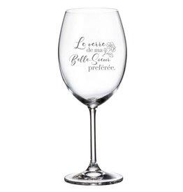 La maison du bar Verre à vin - Belle-soeur préférée