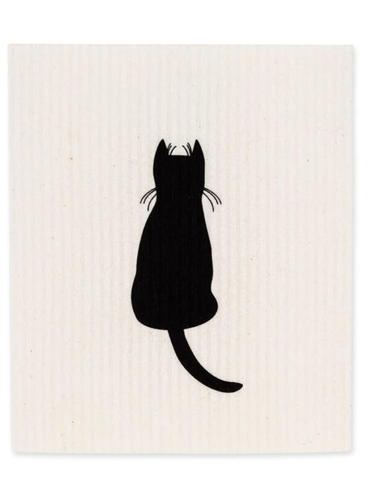 Lingette chat noir - Assis