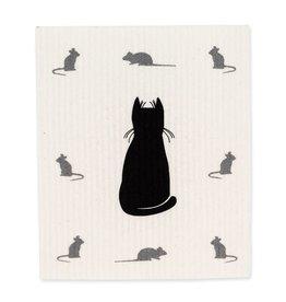 Lingette chat noir + souris