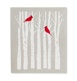 Lingette arbre + cardinal