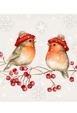 Serviette Table - 2 oiseaux sur branche
