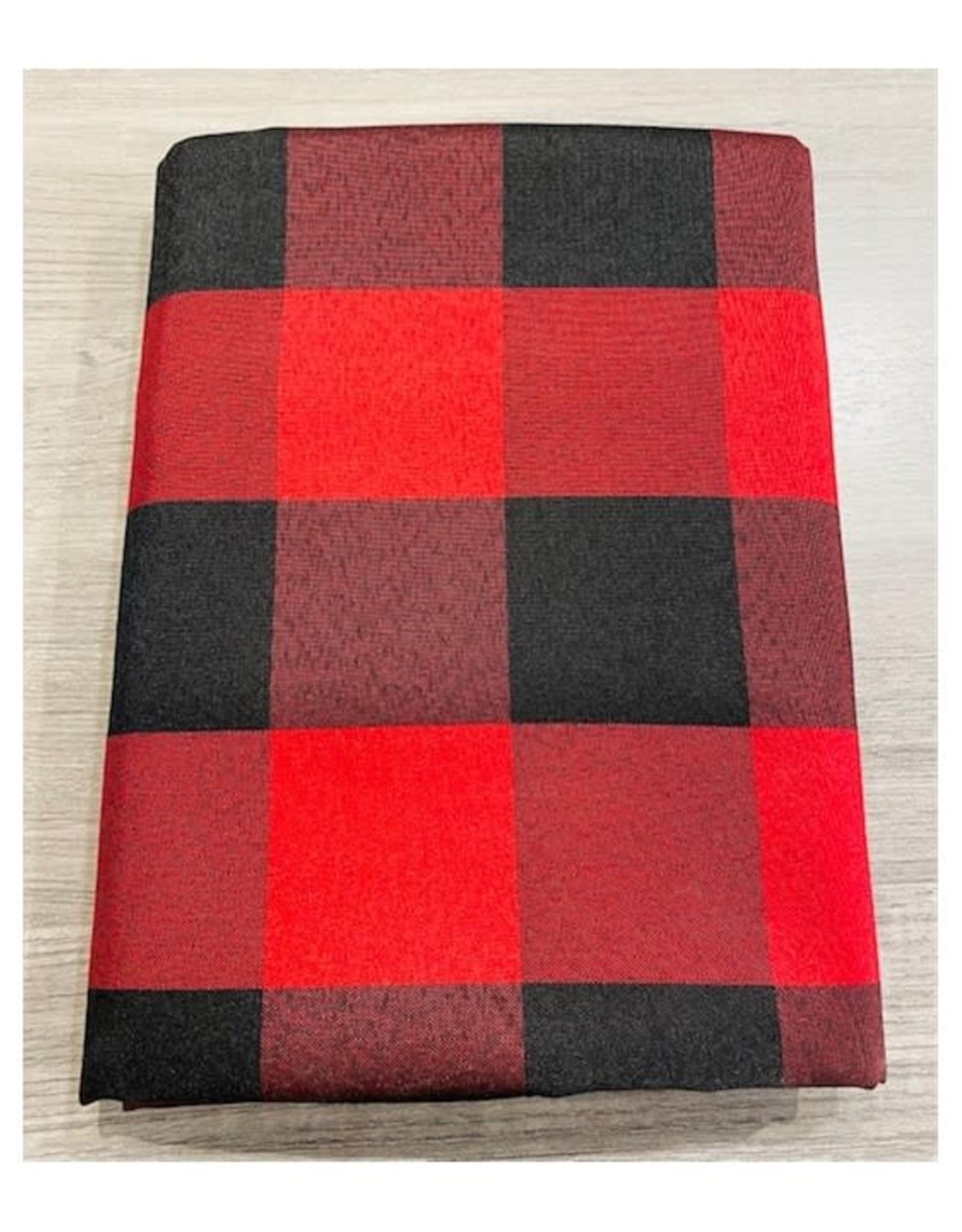 Nappe carreaux Noir & Rouge