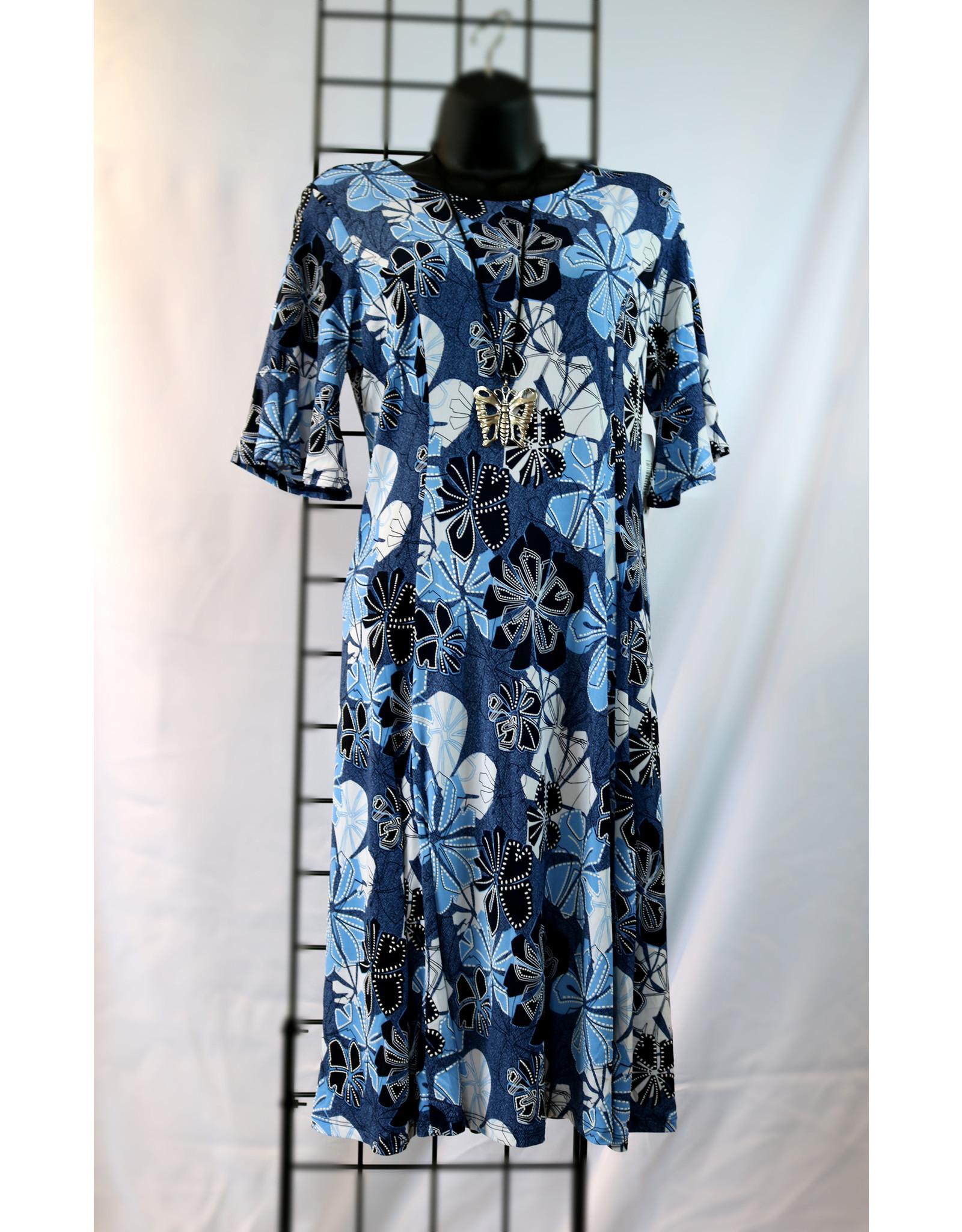 Southern Lady Elbow Sleeve Loretta Print Dress 6160160