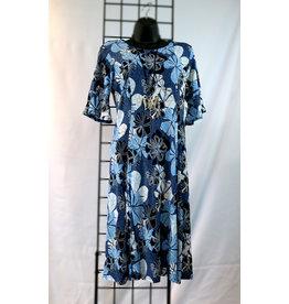 Southern Lady Elbow Sleeve Loretta Print Dress 6160