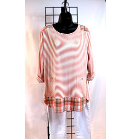 NTouch 3/4 Sleeve Striped Top 405X