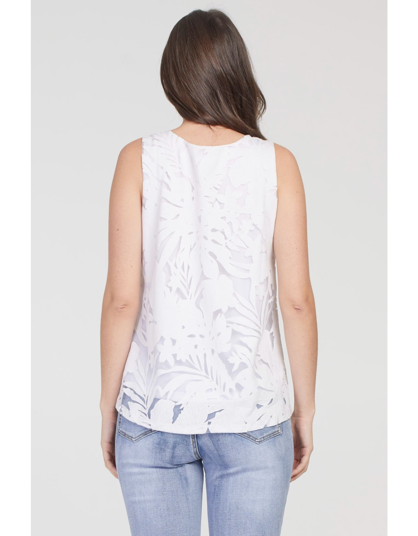 Tribal Cutwork Lace Overlay Top 69060