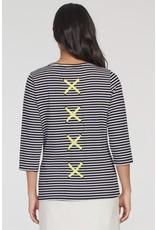 Tribal 3/4 Sleeve Top Back Detail 44520 (S1)