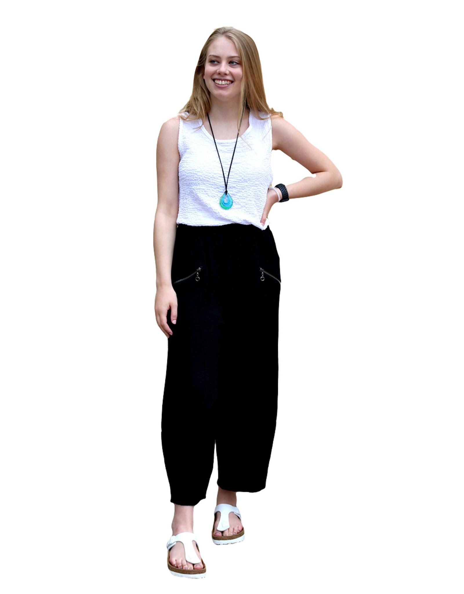 Yushi Yushi Black Wide Pants P403 (S1)
