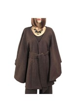 Magic Scarf Wool Feel Belted Cape (S2)