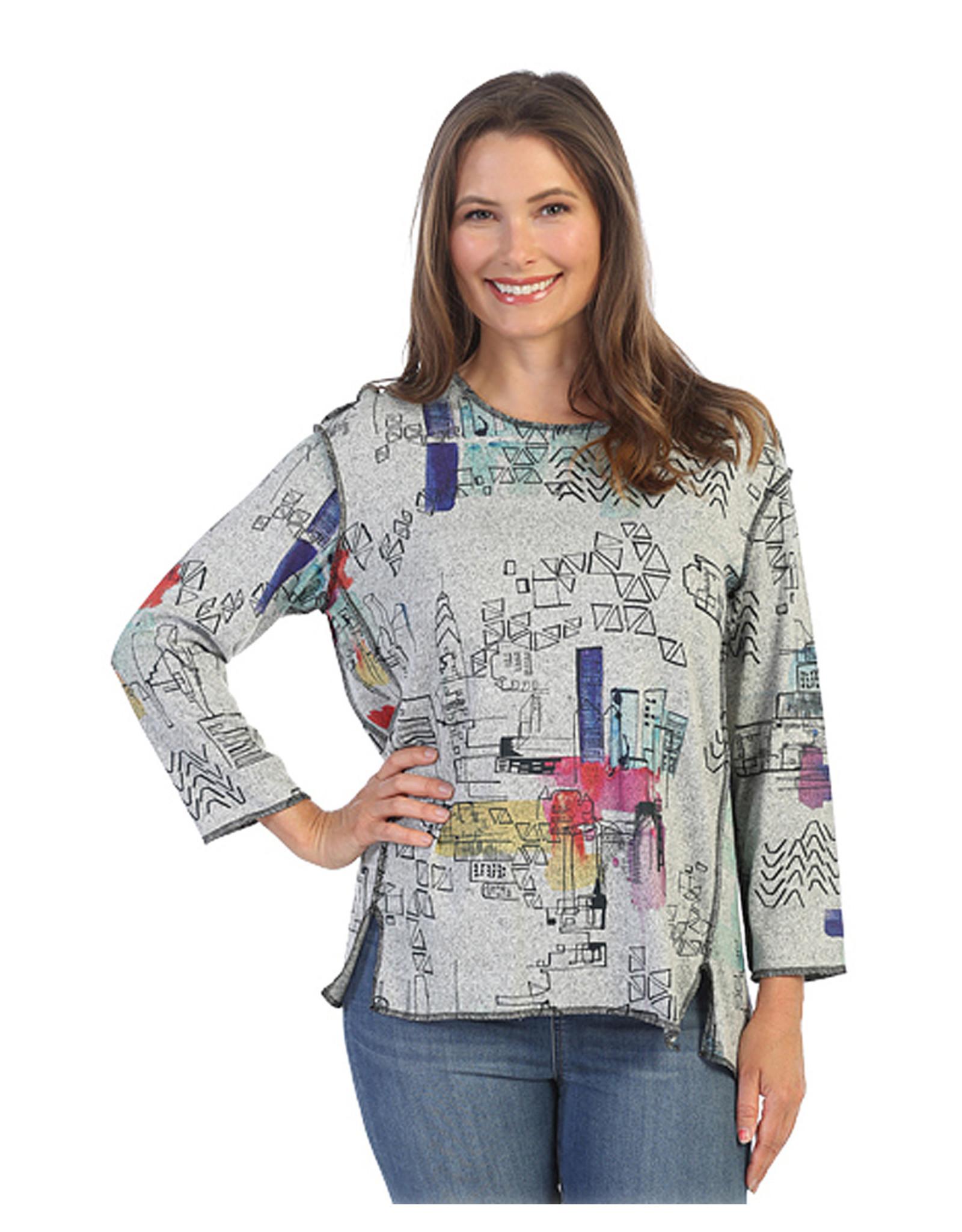 Jess & Jane Manhattan Print Tunic FB1-1510
