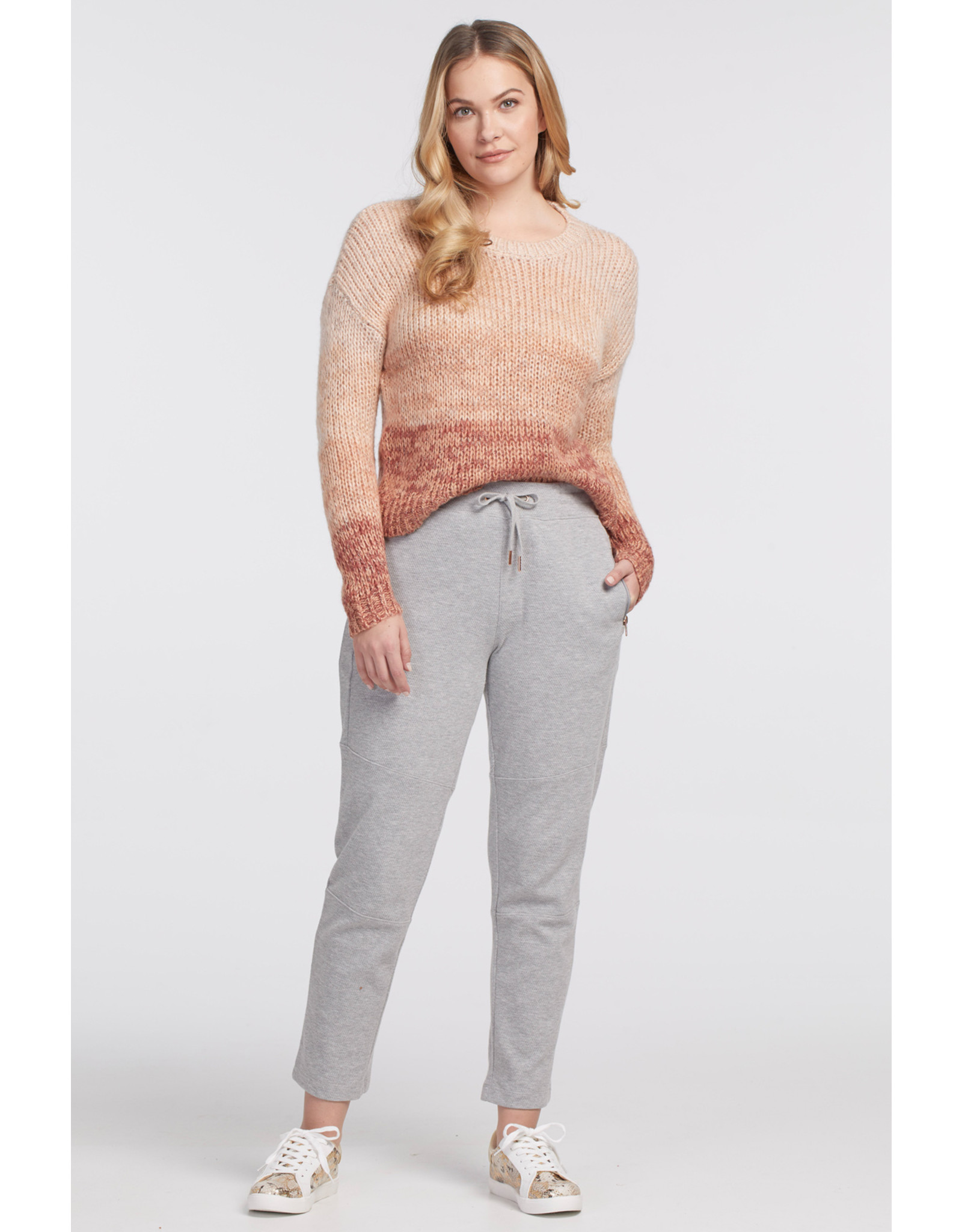 Tribal Long Sleeved Crew Ombre Sweater 47580
