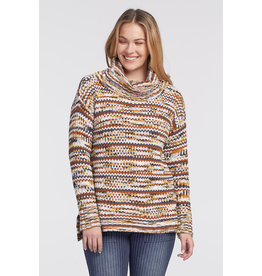 Tribal Long Sleeved Cowl Neck Sweater 47770