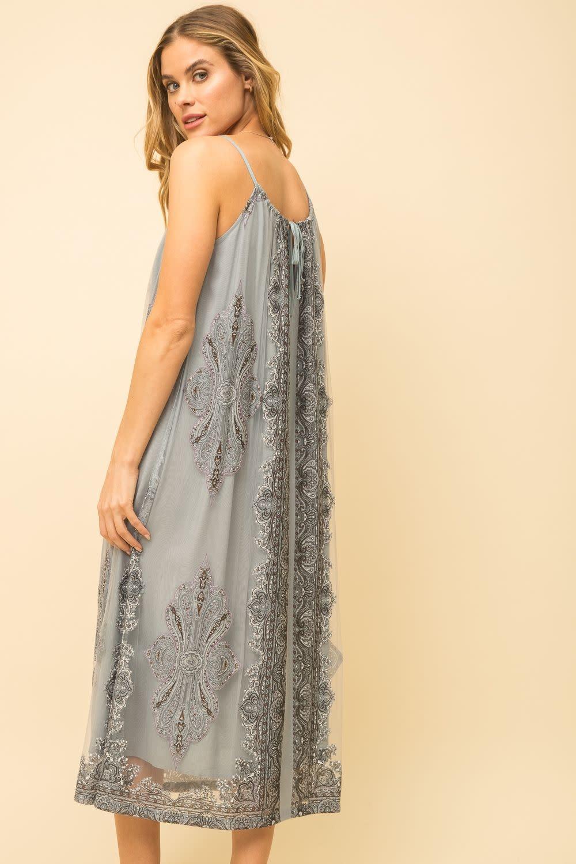 Mystree Keyhole Front Scarf Dress