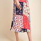 GILLI Floral Patchwork Print Midi Skirt