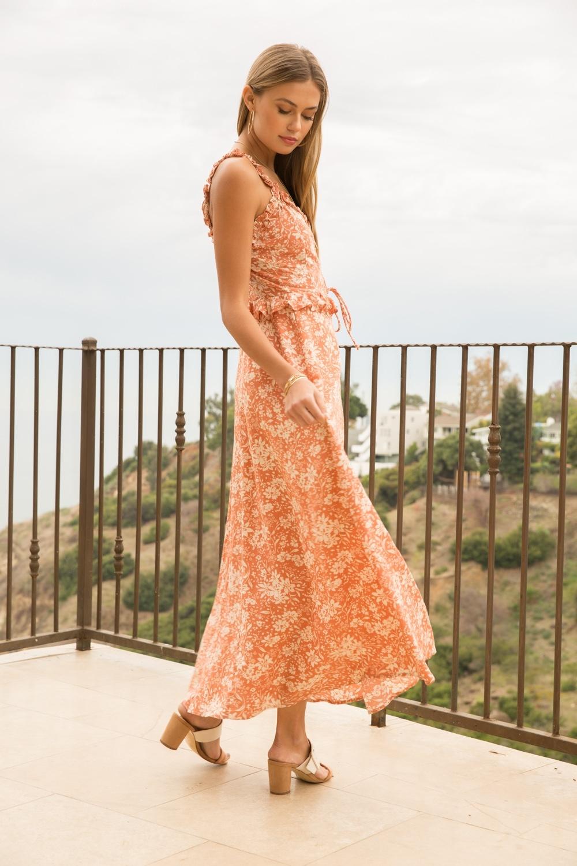 Hem & Thread Floral Print Midi Dress