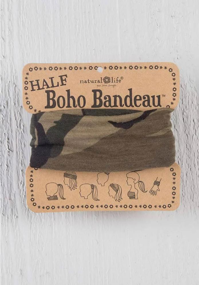 Natural Life Pattern Half Boho Bandeau