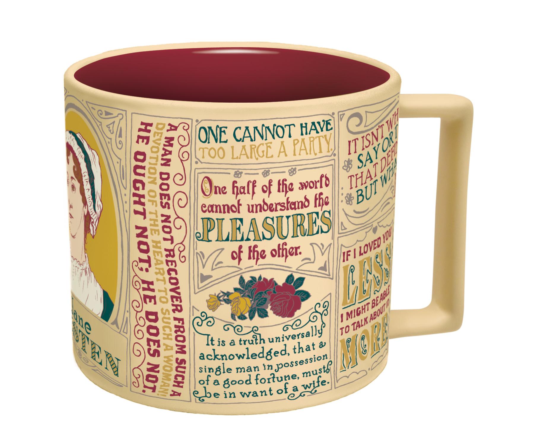 Unemployed Philosophers Guild Jane Austen Literary Quotes Mug