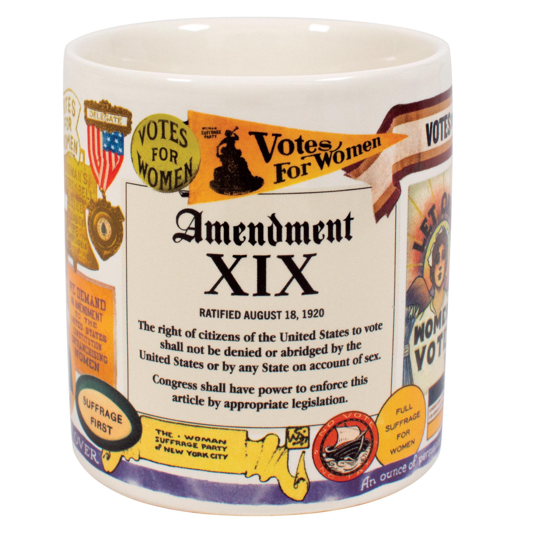 Unemployed Philosophers Guild 19th Amendment Mug