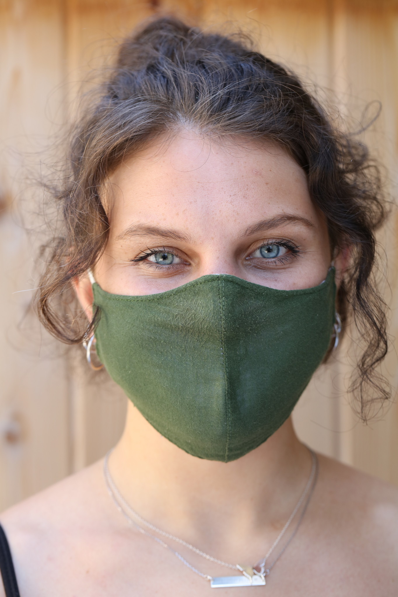 Lotus and Luna Solid Triple Cotton Layer Mask with Insert Pocket