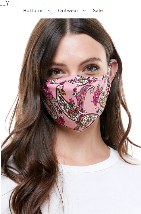 faire Reusable Printed Face Mask
