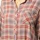 Mystree 2 Way Plaid Button Down Shirt