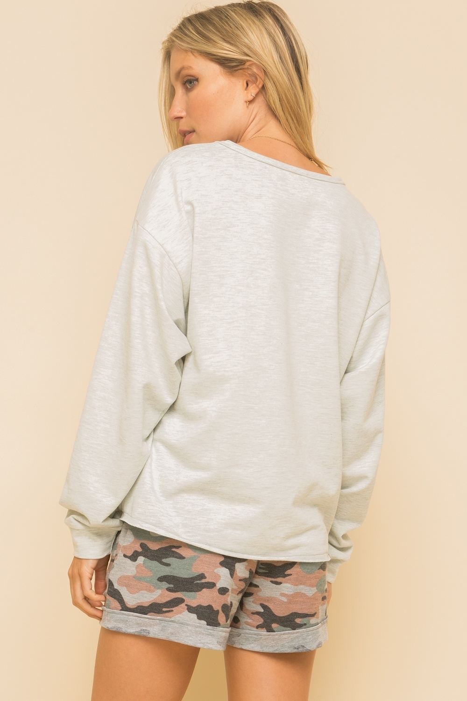 Hem & Thread Camo Stripe Sweatshirt