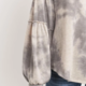 PAPER CRANE/LOVEMARKS Tie Dye Top w/ Ruffle